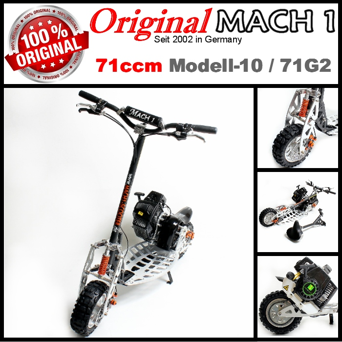 71cc mach1 l 39 essence scooter go model 10 trotinette pocket bike 71 cc moteur ped ebay. Black Bedroom Furniture Sets. Home Design Ideas