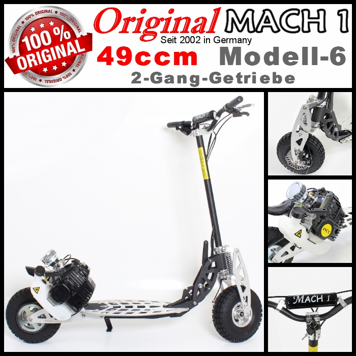 mach1 benzinscooter modell 6 mit 49ccm motor ped. Black Bedroom Furniture Sets. Home Design Ideas