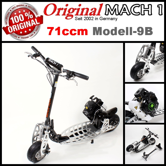 mach1 benzinscooter modell 9b mit 71ccm motor ped. Black Bedroom Furniture Sets. Home Design Ideas