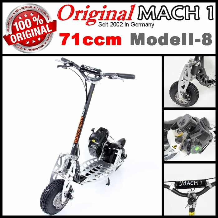 mach1 benzinscooter modell 8 mit 71ccm motor ped. Black Bedroom Furniture Sets. Home Design Ideas