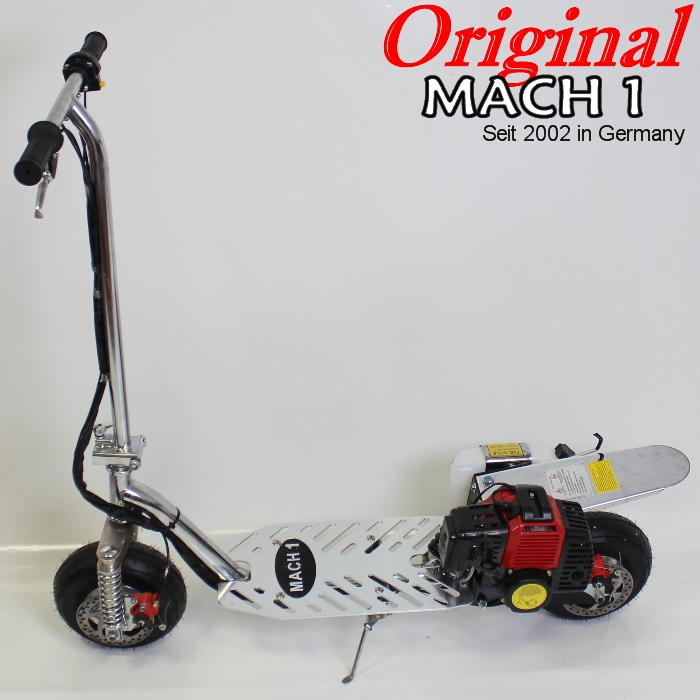 mach1 benzinscooter modell 1 mit 49ccm motor ped powerboard benzin scooter go ebay. Black Bedroom Furniture Sets. Home Design Ideas