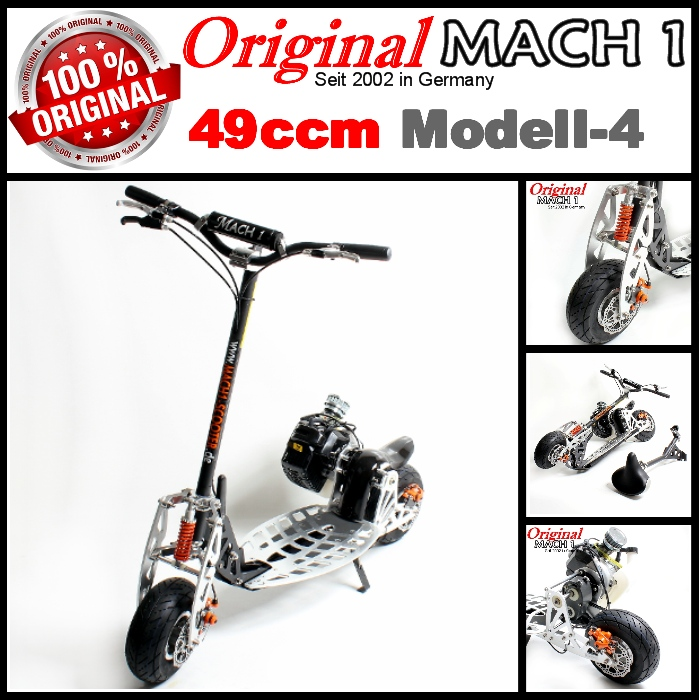 mach1 benzinscooter modell 4 mit 49ccm motor ped. Black Bedroom Furniture Sets. Home Design Ideas