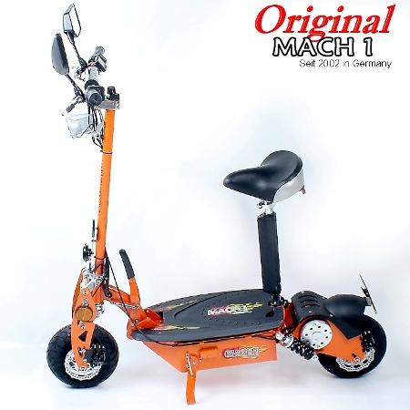 mach1 e scooter 1000w mit strassen zulassung moped. Black Bedroom Furniture Sets. Home Design Ideas