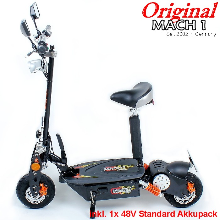 mach1 e scooter 1000w mit strassenzulassung moped elektroscooter elektro roller. Black Bedroom Furniture Sets. Home Design Ideas