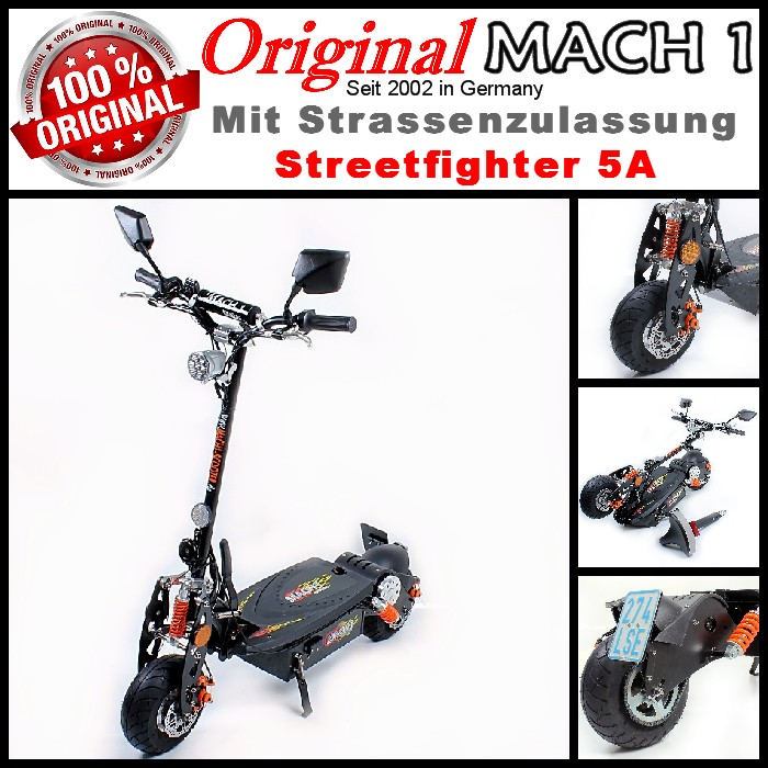 mach 1 e scooter 1000w with road permission moped. Black Bedroom Furniture Sets. Home Design Ideas
