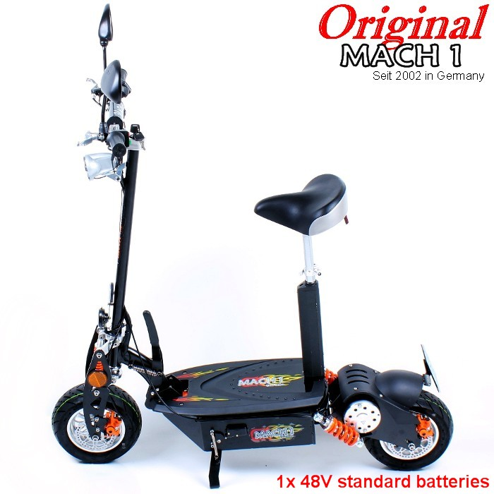 mach1 e scooter 1000w 48v motor 40 km h street legal. Black Bedroom Furniture Sets. Home Design Ideas