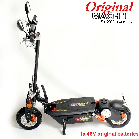 mach 1 e scooter 1000w 48v motore a 40 km h street legale. Black Bedroom Furniture Sets. Home Design Ideas