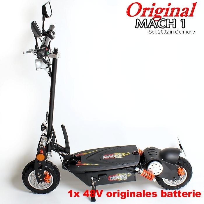 mach 1 e scooter 1000 w 48 v moteur 40 km h street legal. Black Bedroom Furniture Sets. Home Design Ideas