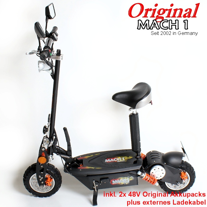 mach1 e scooter 1000w mit strassenzulassung moped. Black Bedroom Furniture Sets. Home Design Ideas
