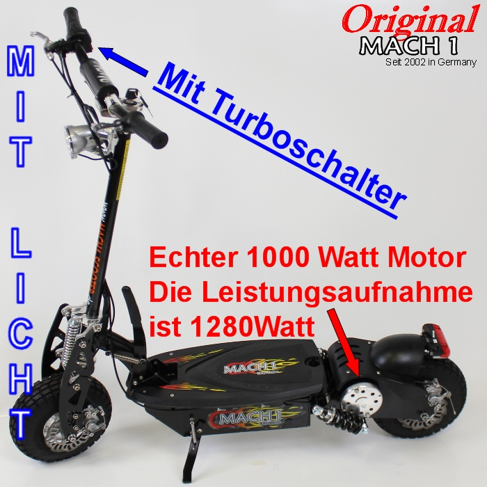 1000 watt mach1 e scooter elektroscooter elektro roller ebay. Black Bedroom Furniture Sets. Home Design Ideas