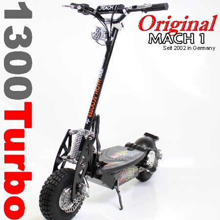 der neue mach1 1300 turbo 1000 watt e scooter. Black Bedroom Furniture Sets. Home Design Ideas