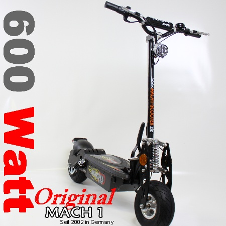 mach1 e scooter elektroscooter elektro roller 600watt. Black Bedroom Furniture Sets. Home Design Ideas