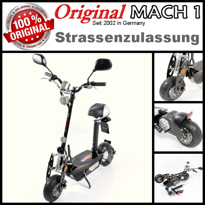 mach1 e scooter mit strassenzulassung und panasonic akku. Black Bedroom Furniture Sets. Home Design Ideas