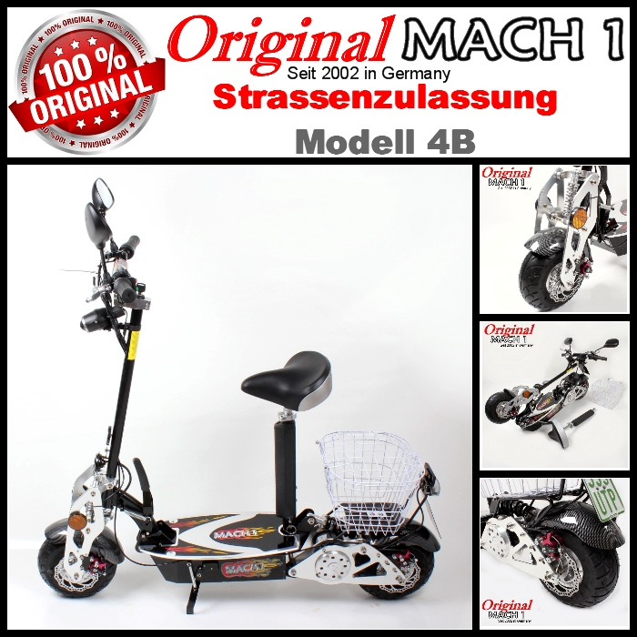 mach 1 e scooter avec trangl e v lomoteur elektroscooter. Black Bedroom Furniture Sets. Home Design Ideas