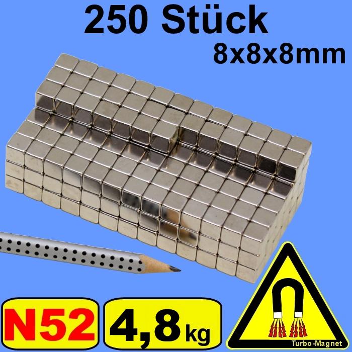 10-bis-400-Neodym-Magnet-N52-Wuerfel-8x8x8-mm-8mm-8-mm-8x8x8mm-8-8-8mm-8-8-8-mm