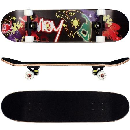 funtomia skateboard aus 9 lagen ahornholz mit abec 15. Black Bedroom Furniture Sets. Home Design Ideas