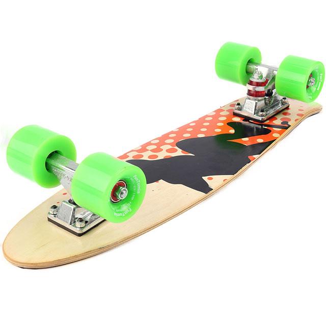 funtomia mini board ahorn holz abec 11 retro skateboard cruiser kinder 2061. Black Bedroom Furniture Sets. Home Design Ideas