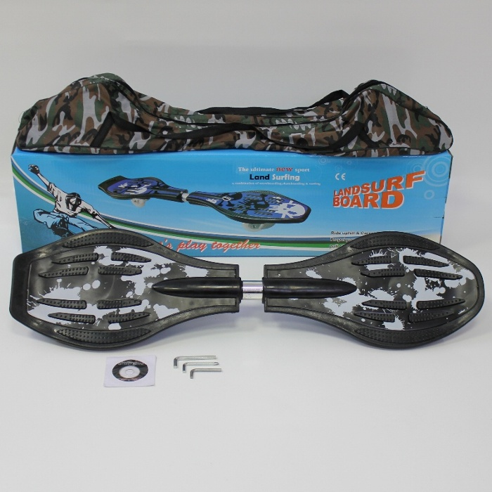 Waveboard-mit-ABEC-7-Lager-inkl-DVD-und-Tasche-Wave-Board-aus-hochwertigem-ABS